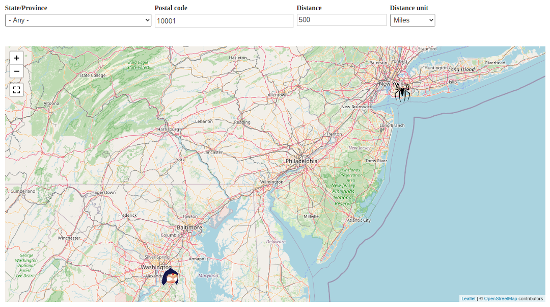 Interactive Maps with CiviCRM Addresses