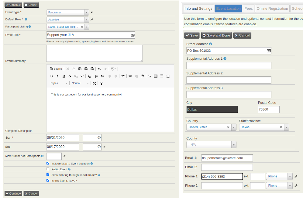 Contributions and Reports within Views