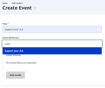 Customizing Event Pages with Media