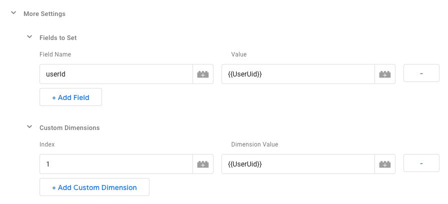 Google Tag Manager custom fields and dimensions