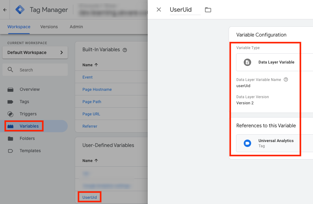 Google Tag Manager custom variable