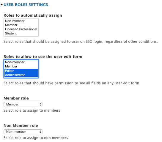 Single Sign-On Drupal user role mapping based on 3rd party membership type