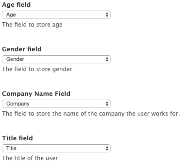 Single Sign-On field mappings from Salesforce to Drupal